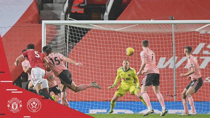 نهاية مباراة مان يونايتد ضد شيفيلد يونايتد بسقوط المانيو بهدفين