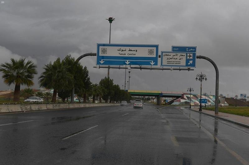 أمطار غزيرة وبرد على تبوك - المواطن