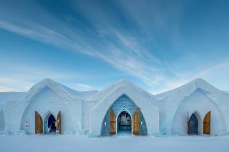 فندق مذهل بُني بـ 15 ألف طن من الجليد (2)