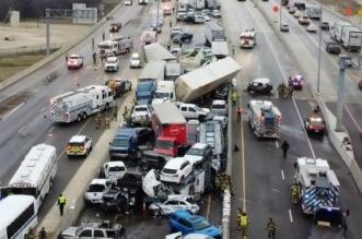 تصادم 100 مركبة في ولاية تكساس الأمريكية