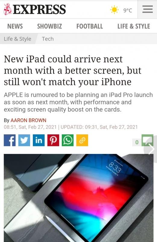 أبل تستعد لاطلاق iPad Pro بمميزات جديدة
