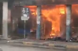 فيديو.. حريق هائل في مجمع تجاري عند القصر الرئاسي بالخرطوم - المواطن