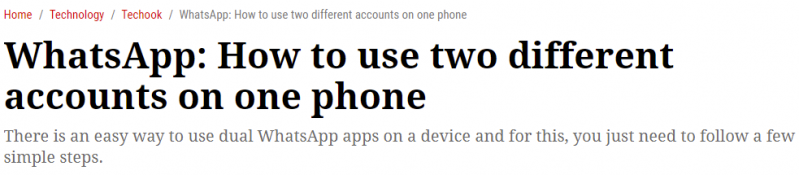 كيفية استخدام حسابين مختلفين من واتساب على هاتف واحد