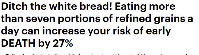 الوفاة مصير من يتناول الخبز الأبيض بكثرة