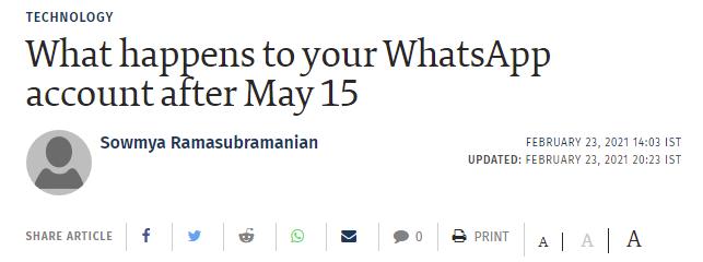 ماذا يحدث لحساب واتساب الخاص بك بعد 15 مايو المقبل؟