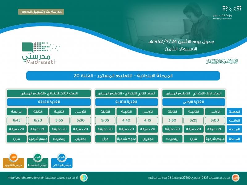 التعليم تعلن جدول دروس الحصص اليومية للأسبوع الثامن على قناة عين - المواطن