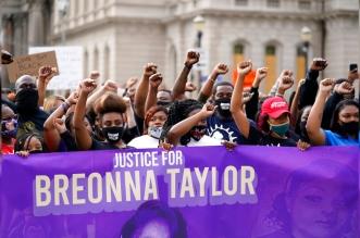تجدد الاحتجاجات الأمريكية بعد عام من مقتل بريونا تايلور (1)