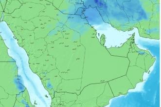 خريطة أمطار الغد