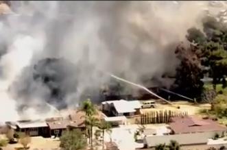 فيديو.. لحظة وقوع انفجار هائل في حي سكني بـ كاليفورنيا (4)