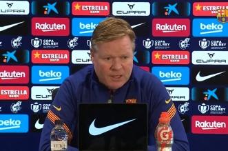 كومان قبل مباراة برشلونة ضد إشبيلية