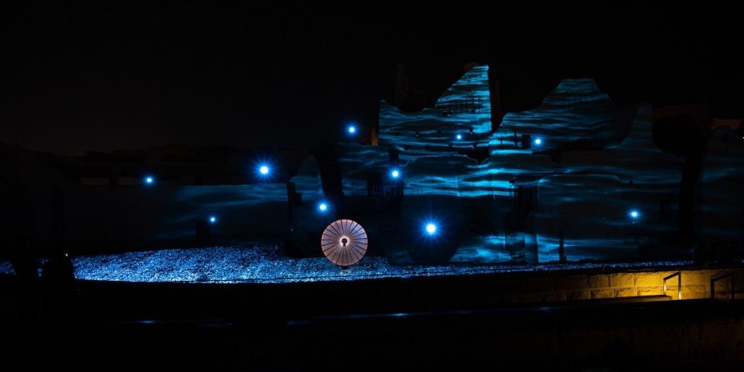 لقطات لحي الطريف التاريخي مساءً ضمن مهرجان نور الرياض