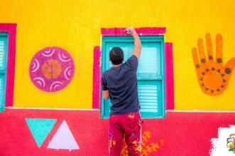 مصر تجميل المناطق الشعبية بـ الألوان (2)
