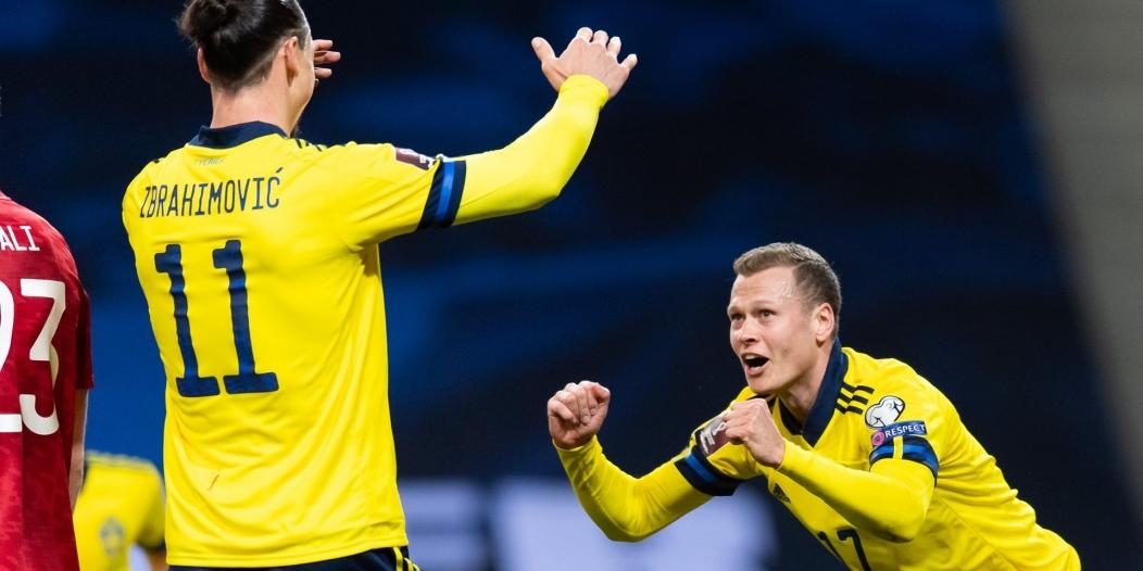 منتخب السويد يتألق بمشاركة إبراهيموفيتش