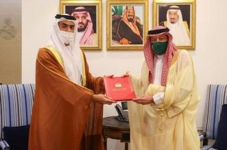 نائب وزير الخارجية يتسلم نسخة من أوراق اعتماد سفير دولة الإمارات العربية المتحدة المعيّن لدى المملكة