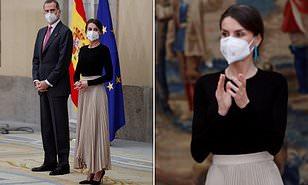 ملكة إسبانيا تظهر بإطلالة رائعة بإحدى الحفلات