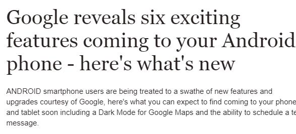 مميزات جديدة تطرحها غوغل قريبا فما هي؟