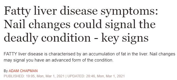 التغييرات في الأظافر من علامات الإصابة بمرض الكبد الدهني