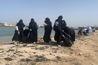 تنظيف شواطئ القحمة والحريضة والبرك والسعيدة - المواطن