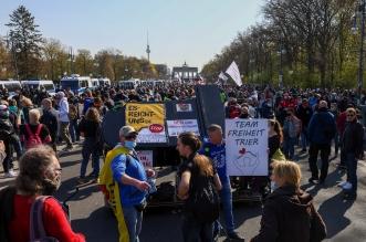 احتجاجات واسعة في ألمانيا بسبب كورونا