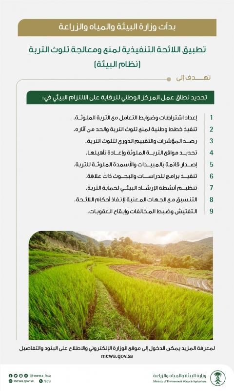 البيئة تبدأ تطبيق لائحة منع ومعالجة تلوث التربة وهذه أهدافها - المواطن