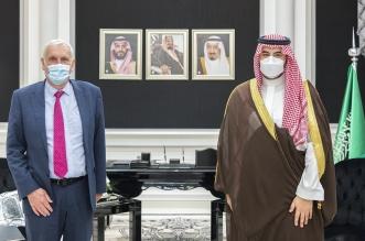 خالد بن سلمان يبحث التعاون مع المبعوث الخاص لرئيس الوزراء البريطاني - المواطن