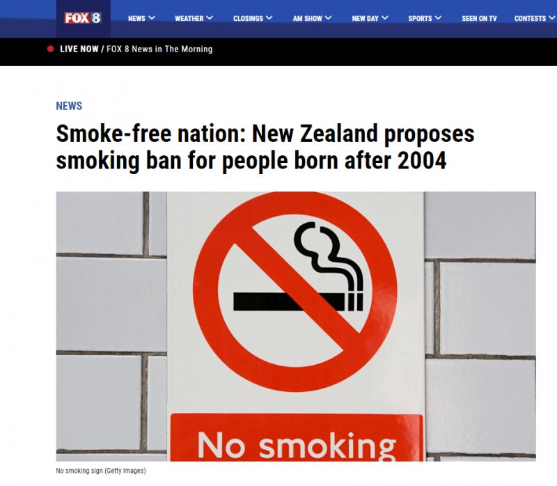 نيوزيلندا تقرر نيوزيلندا تقرر القضاء على التدخين بحلول 2025على التبغ بحلول 2025