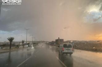 امطار غزيرة على محافظة خميس مشيط