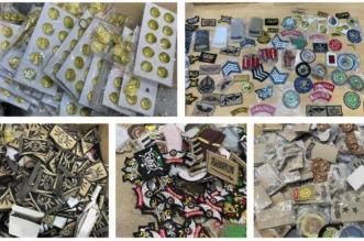 ضبط 400 بدلة عسكرية و8000 قطعة من الأنواط والرتب في الرياض - المواطن