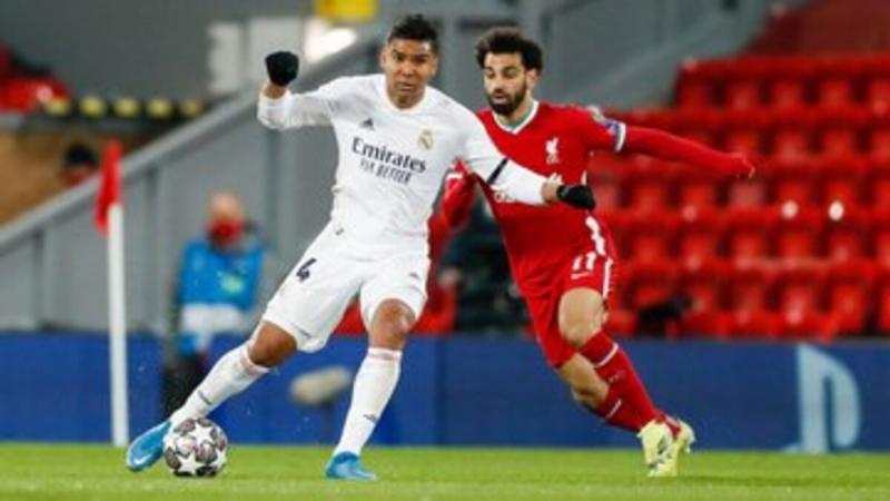 محمد صلاح في لقاء ليفربول وريال مدريد