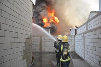 حريق يلتهم مستودعين جنوب جدة - المواطن