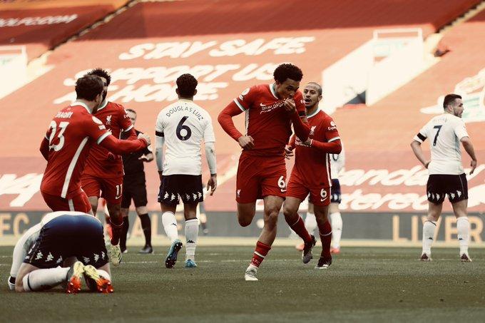 إنجاز لـ ليفربول ضد أستون فيلا