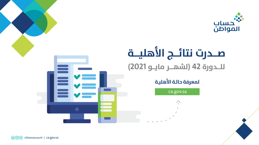 حساب المواطن يعلن صدور نتائج الأهلية للدورة 42