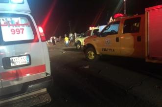 7 وفيات و5 إصابات في حادث تصادم على طريق المدينة القصيم