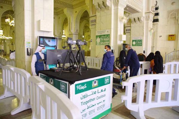 70 كاميرا حرارية لرصد درجات حرارة المعتمرين وزوار المسجد الحرام