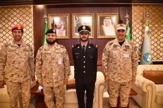 عبدالعزيز الجعوان ييحتفل بتخرجه من كلية الملك خالد العسكرية