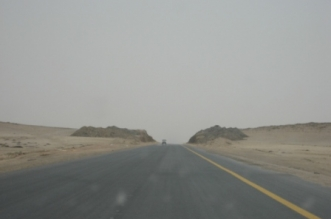 عاصفة ترابية على طريق المهد - عفيف بالمدينة - المواطن