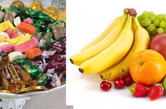الفواكه والحلوى