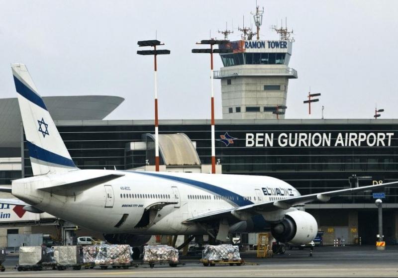 اندلاع حريق كبير قرب مطار بن غوريون