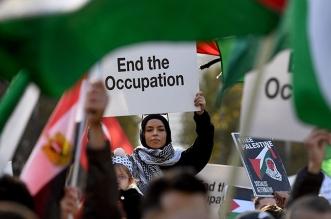 تظاهر الآلاف في أستراليا رفضًا للهجمات الإسرائيلية
