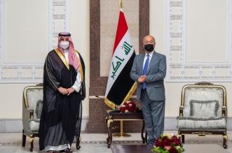 خالد بن سلمان يبحث مع الرئيس العراقي في بغداد سبل تعزيز التعاون - المواطن