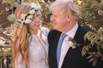 رئيس الوزراء بوريس جونسون وزوجته