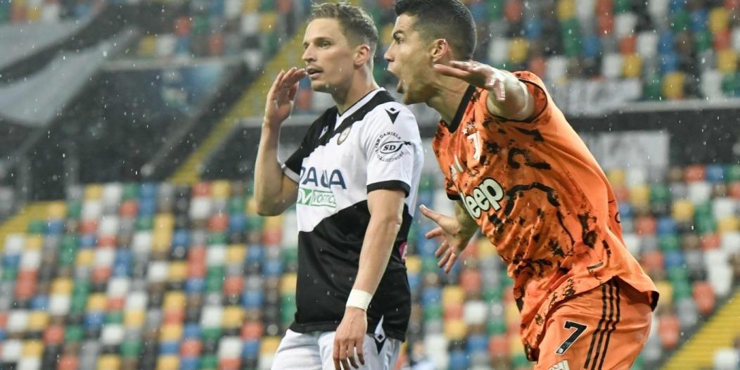 ثنائية رونالدو تحسم مباراة أودينيزي ضد يوفنتوس