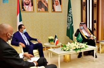 وزير الإعلام المكلف يلتقي وزير الثقافة والإعلام بجمهورية السودان