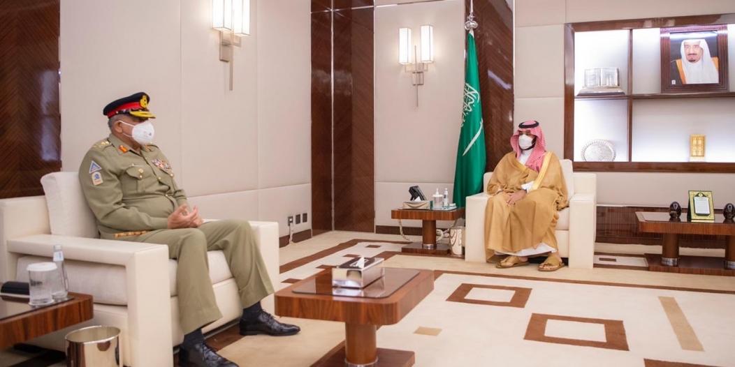 الأمير محمد بن سلمان يلتقي قائد الجيش الباكستاني