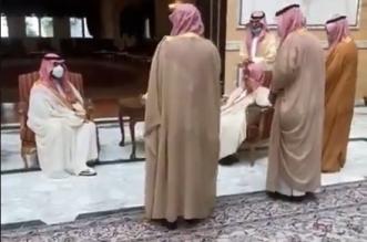 الأمير محمد بن سلمان يزور الشيخ ناصر الشثري ويهنئه بعيد الفطر - المواطن