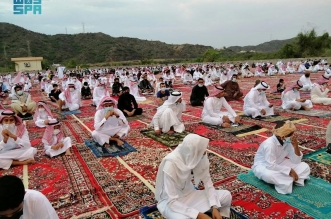 جموع المصلين يؤدون صلاة العيد في 20 ألف جامع ومسجد إضافي - المواطن