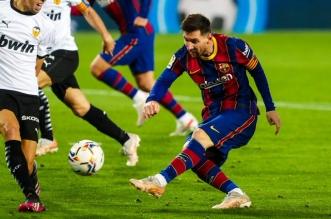 ليونيل ميسي في مباراة فالنسيا ضد برشلونة