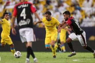 حمدالله بـ مباراة النصر والرائد