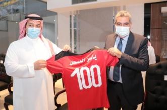 ياسر المسحل مع لجنة الاتحاد المصري لكرة القدم