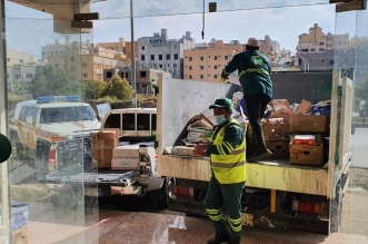 أمانة عسير تضبط مستودعا للتمور الفاسدة قبل تسويقها بمدينة أبها
